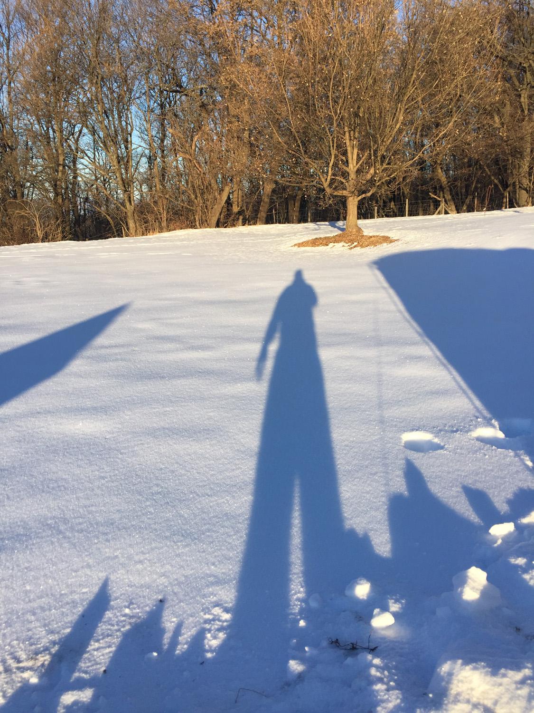 A téli reggeli árnyék igen hosszú