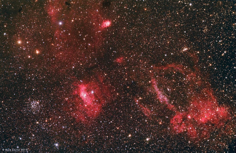 M52, NGC 7635 és környezete