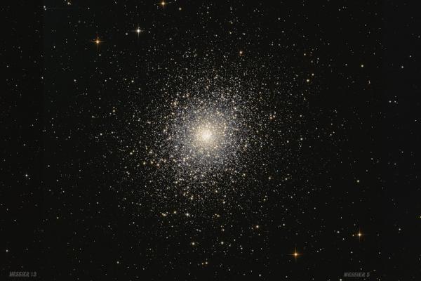 Messier 13, Messier 5, Messier 3