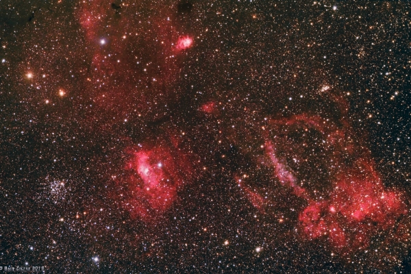 Buborék-köd, M52 és környezete