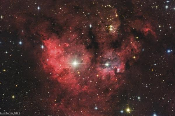 NGC 7822 központi régió
